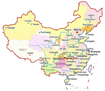 Zhangjiajie map in china zhangjiajie tourism information website zhangjiajie tourism information websiteavatar toptour english website in china j gumiabroncs Images
