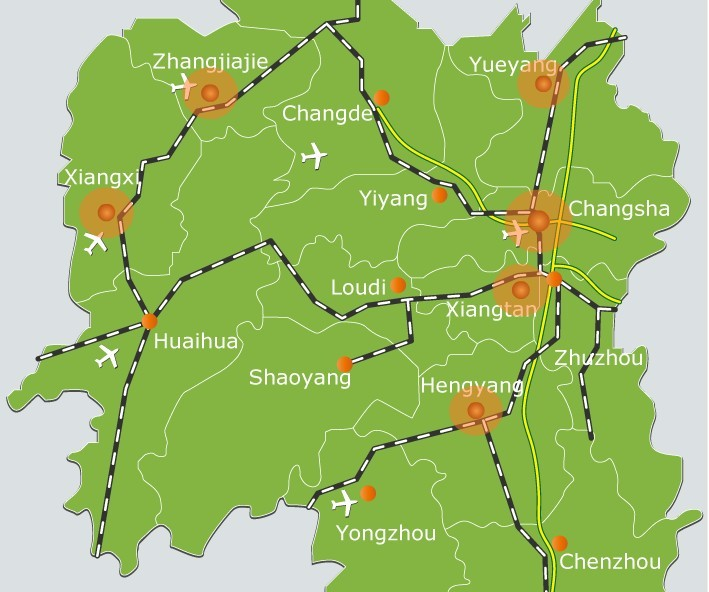 Hunan maps map of hunan china zhangjiajie tourism information hunan maps map of hunan china gumiabroncs Images