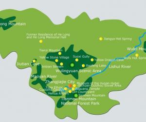 Zhangjiajie maps-Map of Zhangjiajie, Hunan, China
