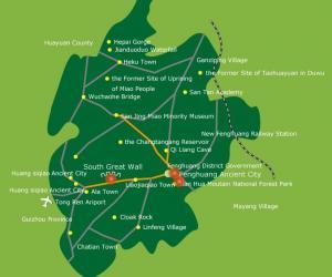 Fenghuang Maps-Western Hunan Tourist Map