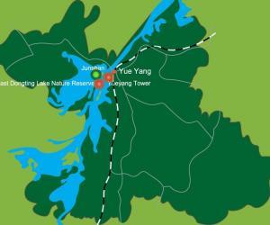 Hunan Yueyang Tourist Map