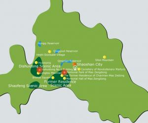 Shaoshan Maps-Map of tourist attractions in Hunan