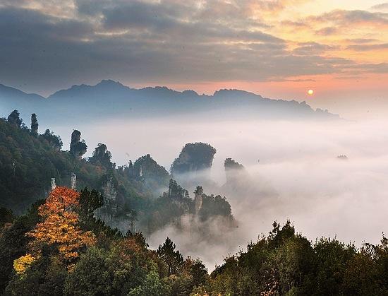 Travel Agency Website >> Zhangjiajie Wulingyuan Autumn-winter scenery[Photo Gallery] - Zhangjiajie Tourism Information ...