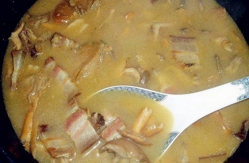 Stewed meat with wild fir bacteria