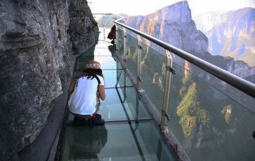 Zhangjiajie Ghost Valley Glass Plank Bridge