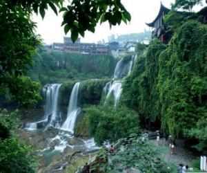 Xiangxi Furong Town Waterfall