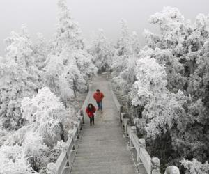 Winter Scenery of Mount Heng,South China's Hunan province