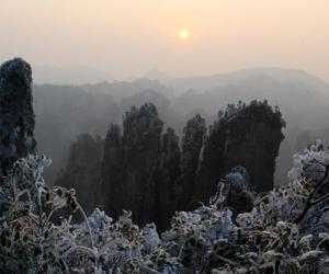 Zhangjiajie Huangshi Village Scenic Area has Intoxicated Snow