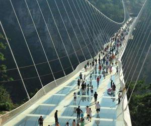 Zhangjiajie glass bridge guidance advice during peak season