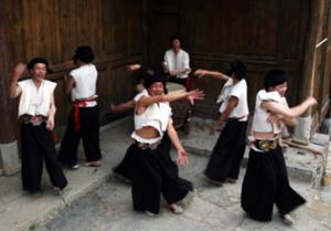 Tujia Minority jumping funeral dance