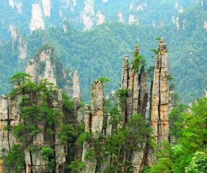 Where are the most representative scenic spots in Zhangjiajie?