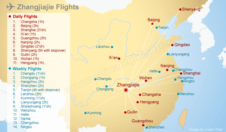 Zhangjiajie airport flight information