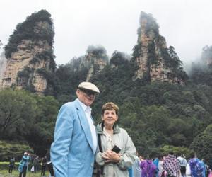 "American professor couple highly praised Zhangjiajie ""Fairyland"""