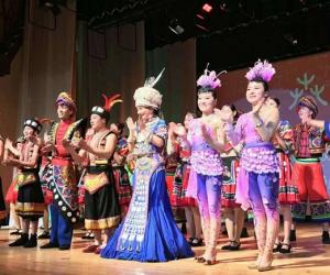 Zhangjiajie national culture show in Russia