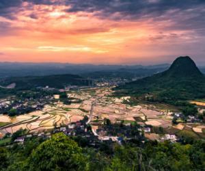 Picturesque Terraced Fields in Western Hunan