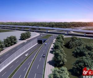 Zhangjiajie Dayong Overpass began construction on May 6