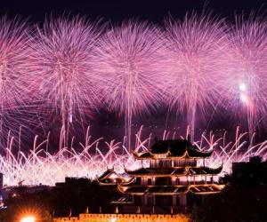 Changsha Fireworks Shows on Sept. 24