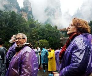 German media interview team visited Zhangjiajie