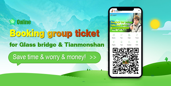 Online booking group ticket for Glass bridge & Tia