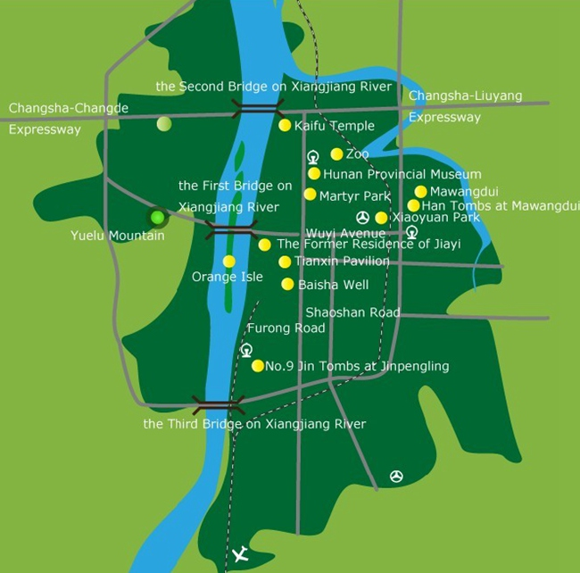Changsha City Map