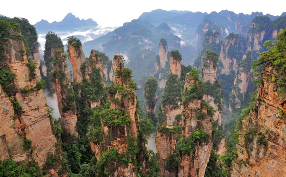 China's most Beautiful Five Peak Forest