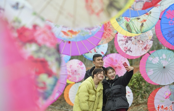 Oil-paper Umbrella Exhibition in Daoxian County