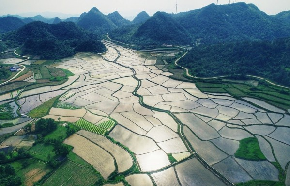 Picturesque Paddy Fields Seen in Xiangxi Yongshun