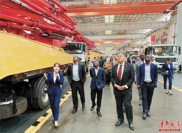 Foreign Guests Visit Sany Group Changsha Industrial Park