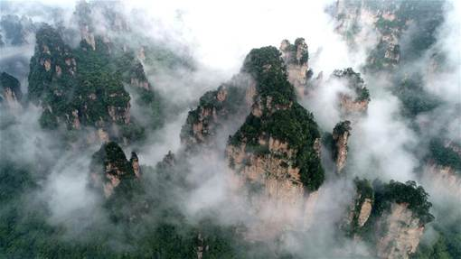 Misty View in Zhangjiajie national forest park