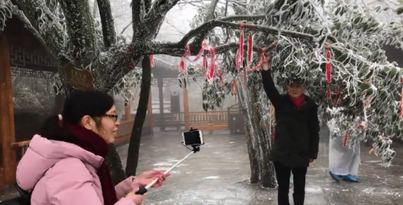Zhangjiajie a white wintry wonder after cold front